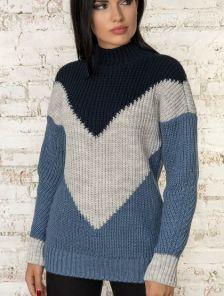 Зимний мягкий шерстяной свитер с мохером