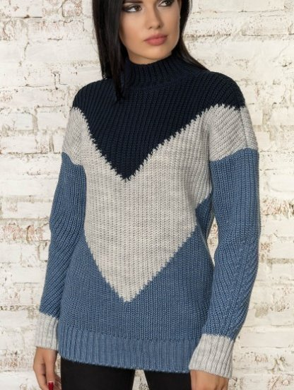 Зимний мягкий шерстяной свитер с мохером, фото 1