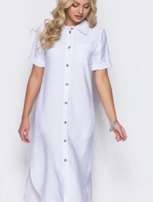 Белое платье ниже колена
