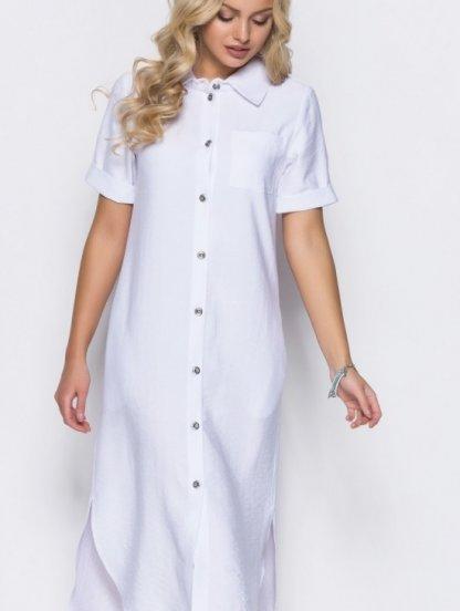 Белое платье ниже колена, фото 1
