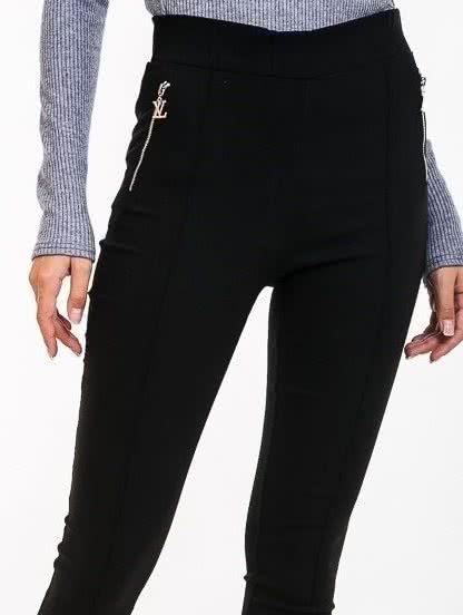 Черные брюки с начесом, фото 1