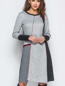 53021a26f57 Повседневное серое платье. Купить в Киеве • Интернет-магазин Onlady
