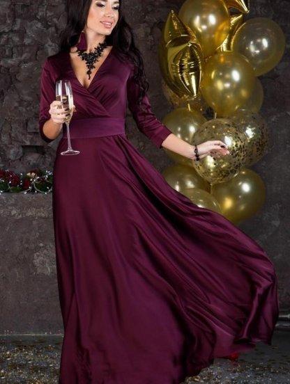 Вечернее длинное платье с рукавом 3/4, фото 1