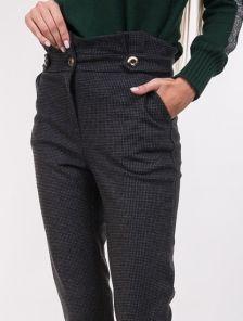 Женские классические брюки с завышеой талией и карманами