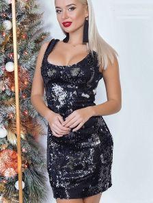 Клубное платье мини с пайеткой