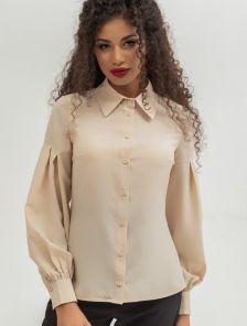 Блуза с отложным воратником и рукавами-фонариками