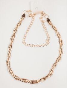 Изящный золотистый пояс-цепочка с плетением