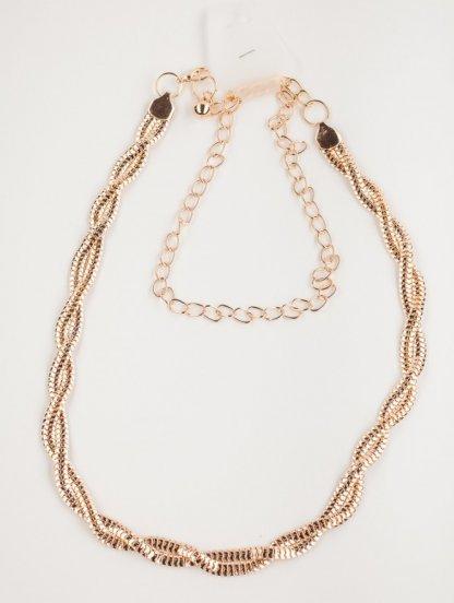 """Изящный золотистый пояс-цепочка с плетением """"веревочка"""", фото 1"""