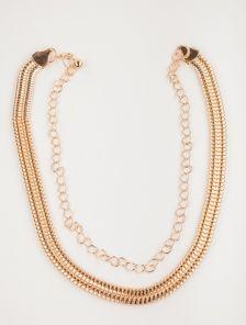 """Изящный золотистый пояс-цепочка с плетением """"шнурок"""" 1,5 см"""