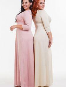 Нарядное длинное платье для полных
