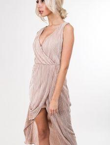 Вечернее плиссированое платье с запахом