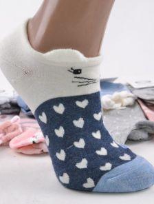 Носочки с зверьком в синем-белом цвете с ушками