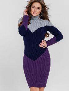 Облегающее платье-гольф с добавлением шерсти