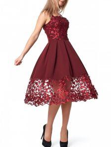 Коктейльное нарядное платье с юбкой-сонце