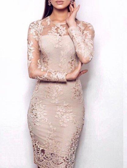 Вечернее кружевное платье с вышивкой золотом, фото 1