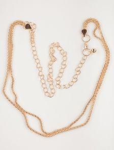 Изящный золотистый пояс-цепочка с двойным плетением