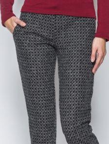 Теплые зимние брюки на завязке с узором