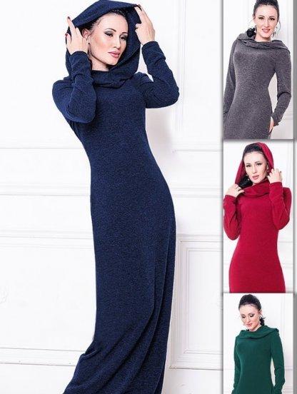 Зимнее длинное платье из ангоры, фото 1