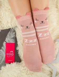 Длинные теплые носочки с милым рисунком