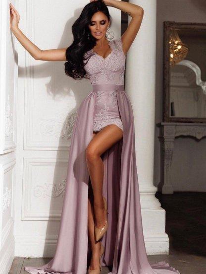 Кружевное длинное платье - двойка со сьемной пышной юбкой, фото 1