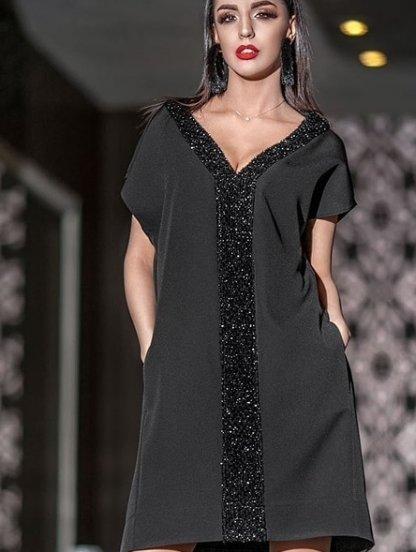 Нарядное свободное расклешенное платье, фото 1