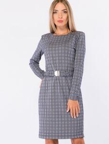 Лаконичное демисезонное платье с длинным рукавом