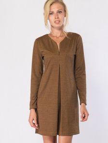 Платье-трапеция миди длинны с V-образным вырезом