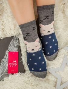 Длинные теплые носочки з зайчиком
