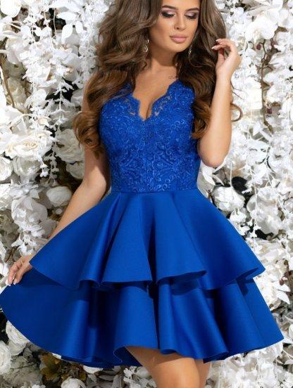 c74e6236b0b Коктейльное синее короткое платье. Купить в Киеве по цене 1629грн ...