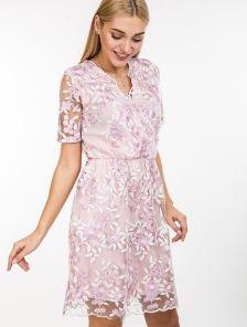 Милое розовое платье с вышивкой