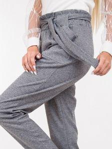 Женские прямые брюки на широкой резинке с принтом