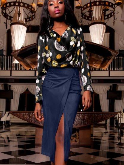 Модная облегающая миди юбка-карандаш, фото 1