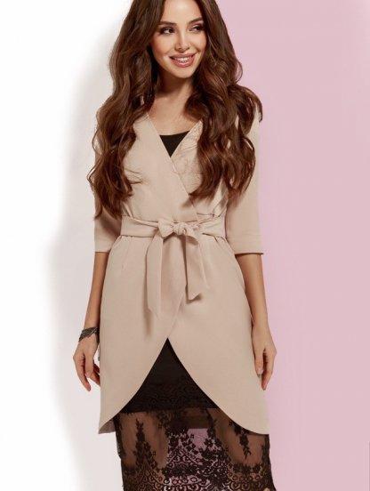 Платье двойка: молодежное бельевое платье с кружевом и пиджак, фото 1