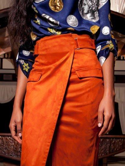 Офисная миди юбка, коллекция 2019, фото 1