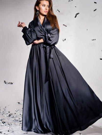 Длинное платье с воротником, фото 1