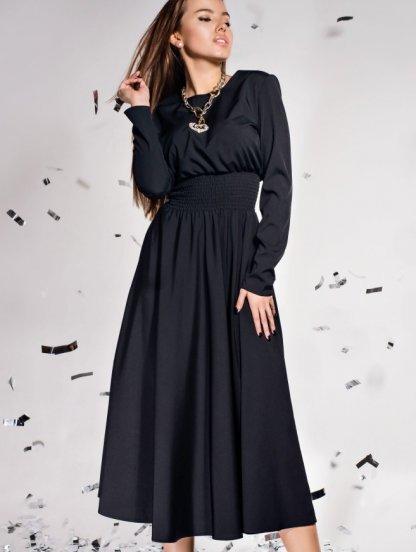 Красивое темное платье с завышеной талией, фото 1