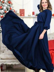 Восхитительное вечернее платье в синем цвете