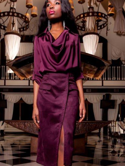 Модная миди юбка, коллекция 2019, фото 1