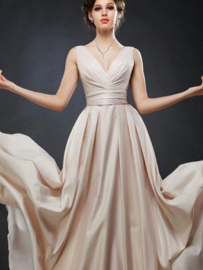 Красивое нарядное вечернее платье в пол на шнуровке с карманами, фото 1