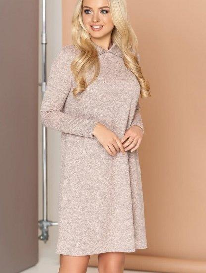 Трикотажное свободное платье трапеция, фото 1