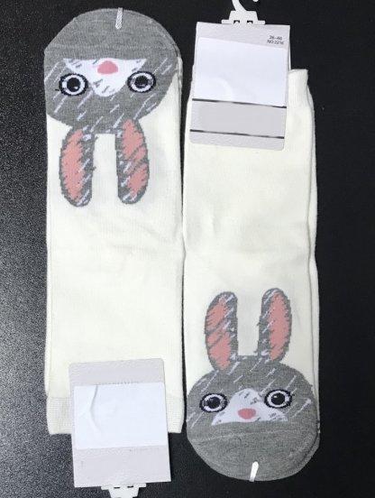 Высокие носки с зайчикамииз натурального хлопка, фото 1