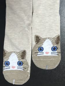 Высокие носки с мордочками с натурального хлопка