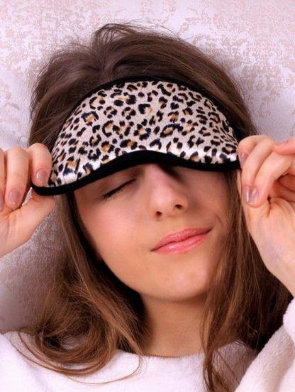 Леопардовая маска для сна с 100% хлопка, фото 1