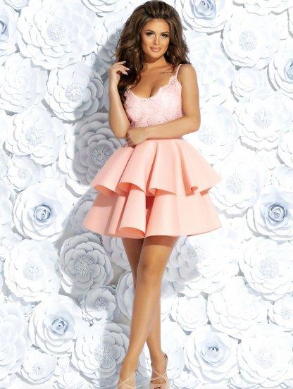 Светлое короткое платье с пышной юбкой, фото 1
