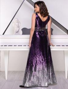 Вечернее длинное платье с пайетками