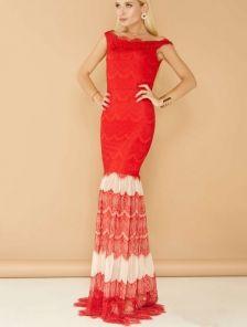 Вечернее ажурное платье с сеткой
