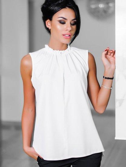 Белая блузка в офис, фото 1