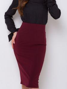Костюмная юбка классического кроя в офис
