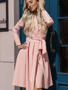 Платье короткое нарядное на длинный рукав