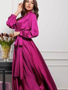 Платье Фуксия Длинное